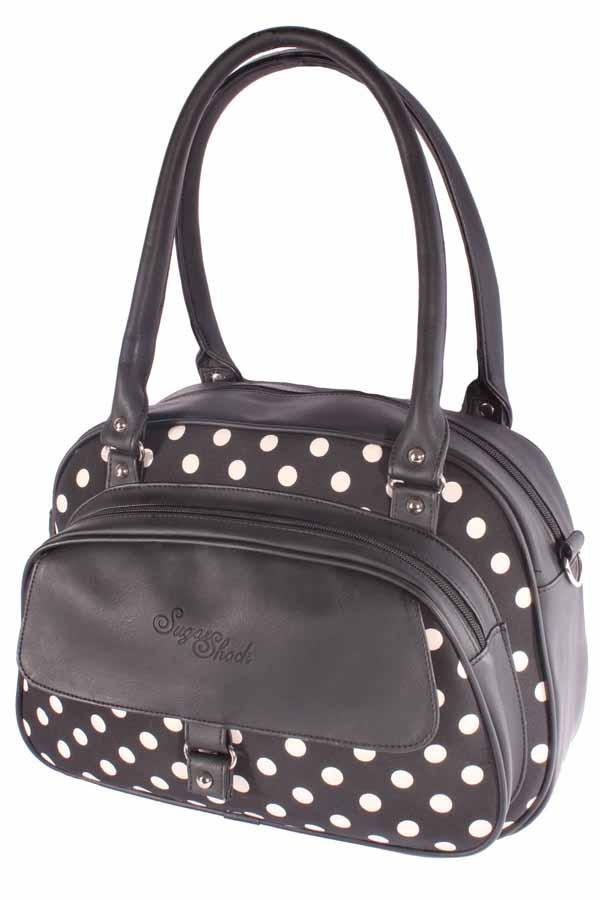 retro Polka Dots Schultertasche rockabilly Punkte Handtasche Tasche