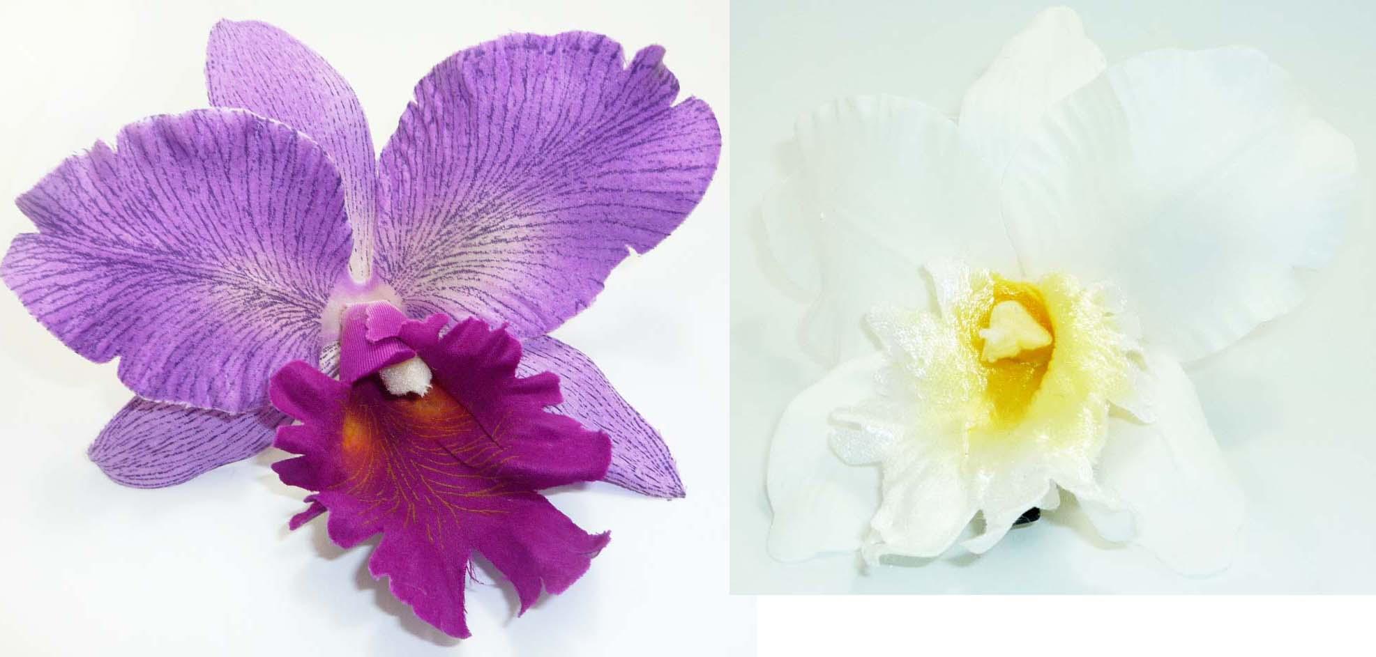 Große pin up Orchidee Blüten rockabilly Flower Haarspange Haarclip