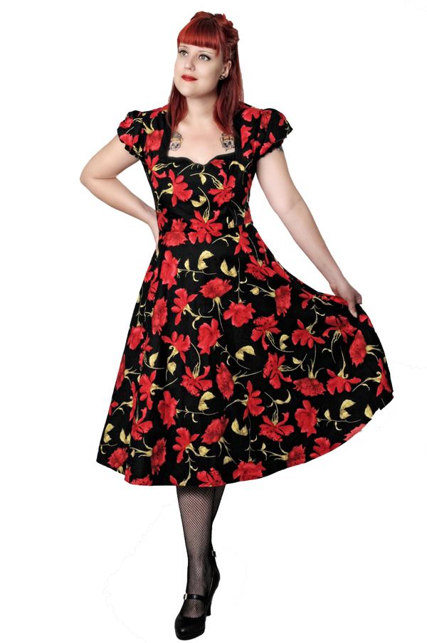 ROSEN Blumen rockabilly Flower SWING Petticoat Kleid Petticoatkleid