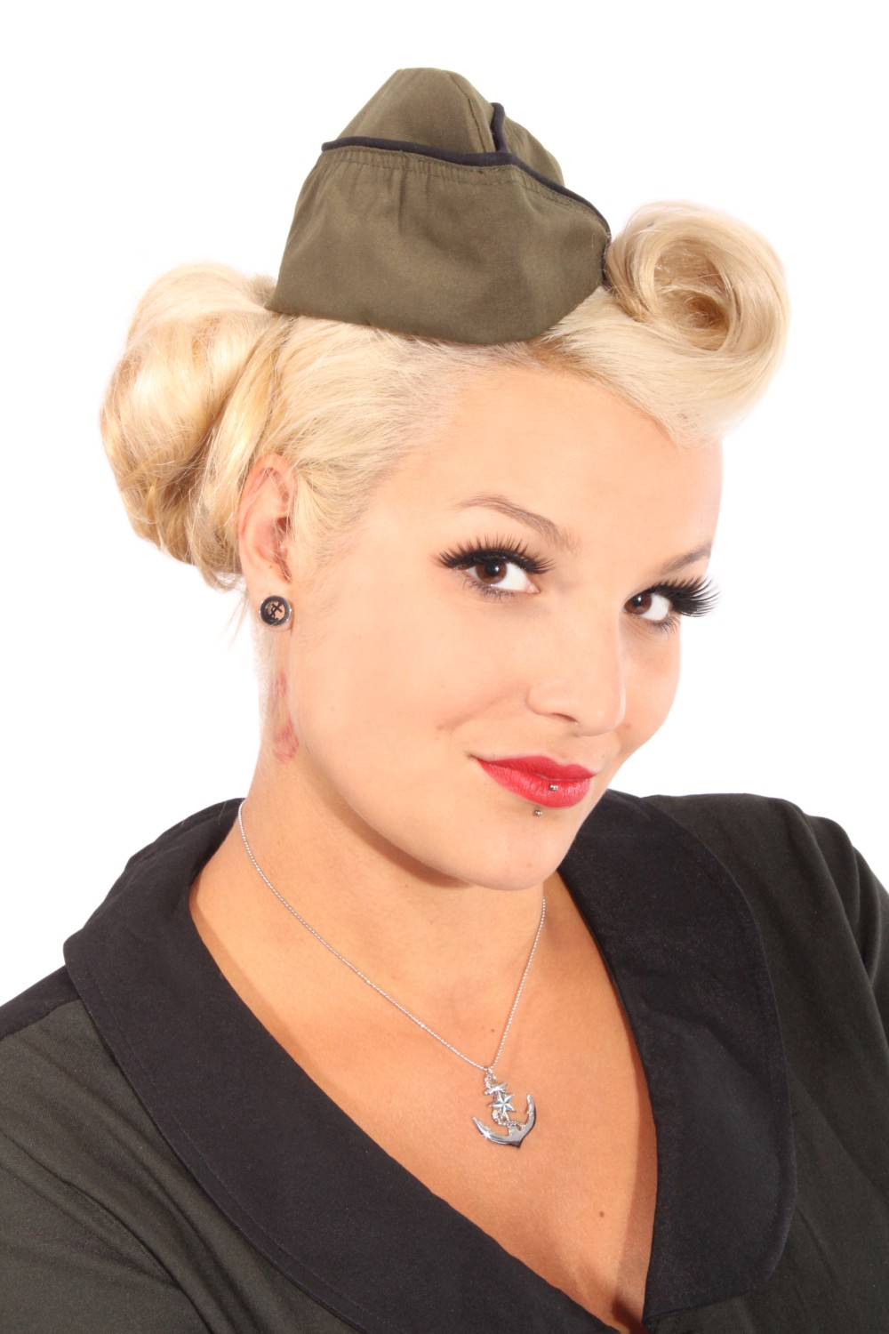 pin up Uniform rockabilly Sailor Matrosen Military Schiffchen Mütze