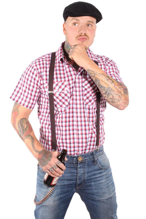 50s SKA rockabilly punk rock Suspenders unifarben Hosenträger