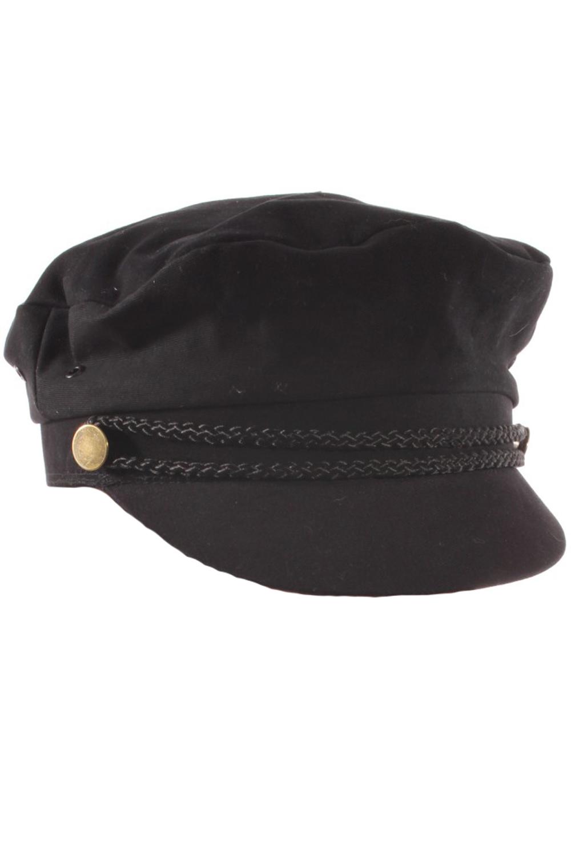 retro Biker Mütze vintage Uniform Rockabilly Cap Unisex schwarz