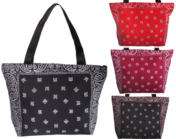 BANDANA Paisely rockabilly Shopper Paiselymuster retro Handtasche