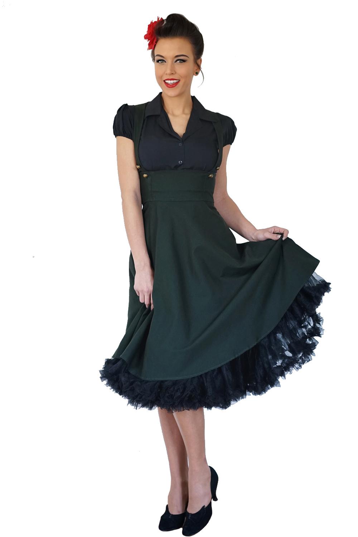 rockabilly retro Hemdkleid Uniform Hosenträger Swing Petticoat Kleid