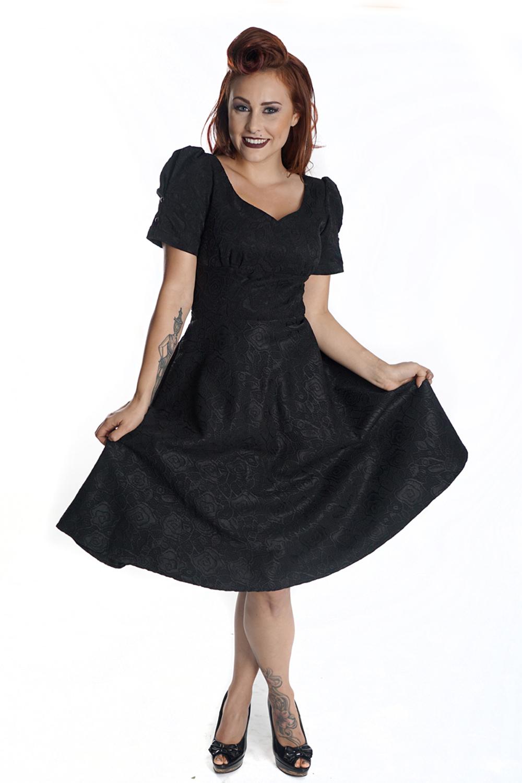50s rockabilly Rosen SWING Spitzen Kleid Petticoatkleid ...