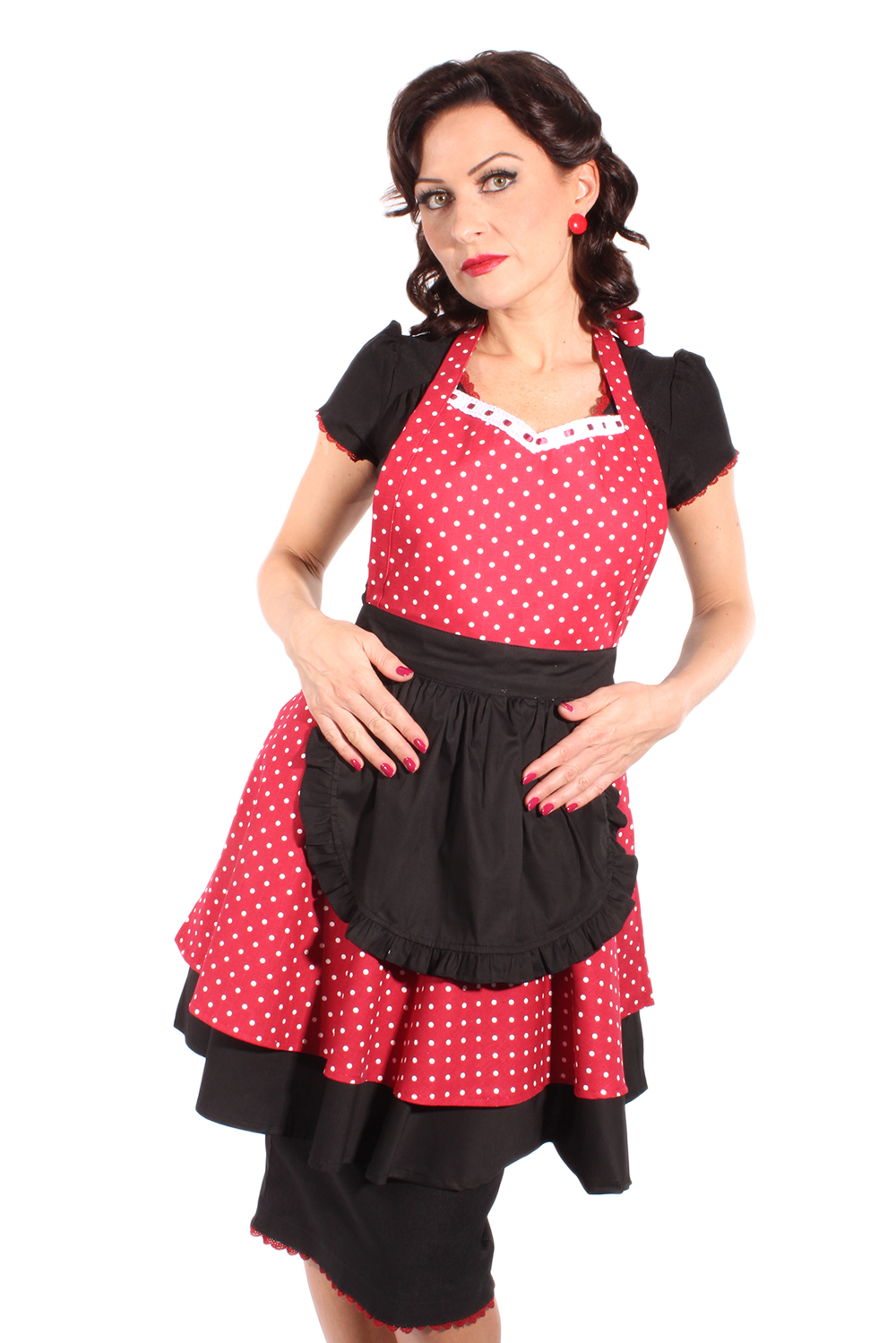 50s retro polka dots rockabilly diner pin up sch rze latzsch rze ebay. Black Bedroom Furniture Sets. Home Design Ideas