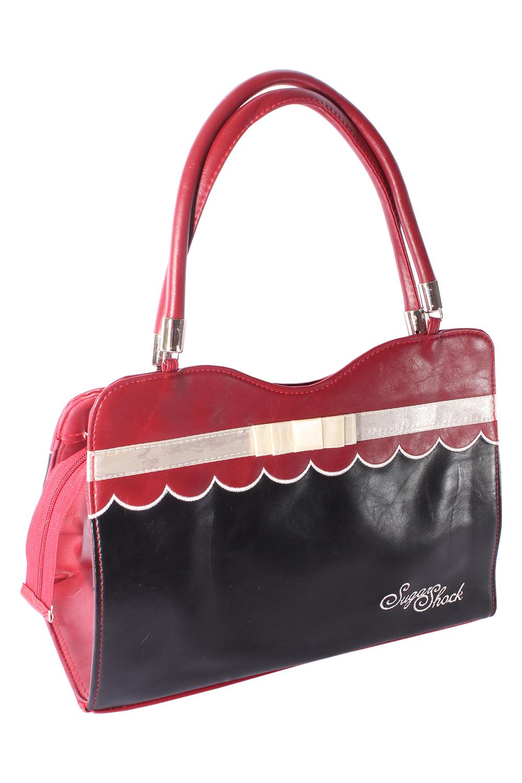 50s 2tone retro Budapester Tasche BOW rockabilly Handtasche