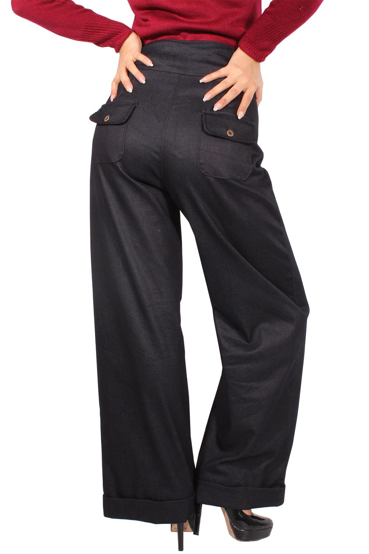 marlene retro denim rockabilly jeans hose high waist marlenehose. Black Bedroom Furniture Sets. Home Design Ideas