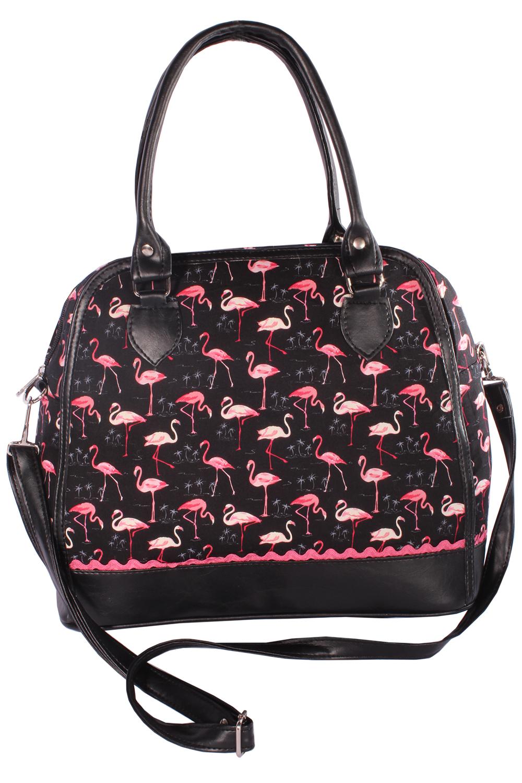 Rockabilly 50er Bowling Flamingo Handtasche retro Umhängetasche