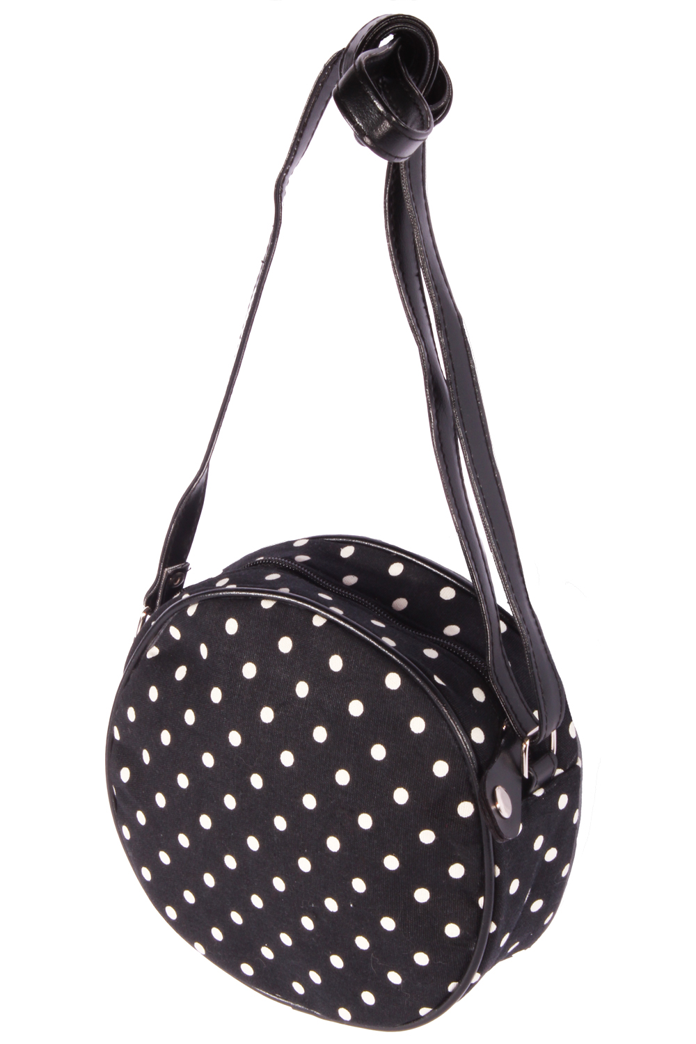 Polka Dots rockabilly Punkte Mini Purse Handtasche Round Bag Abendtasche