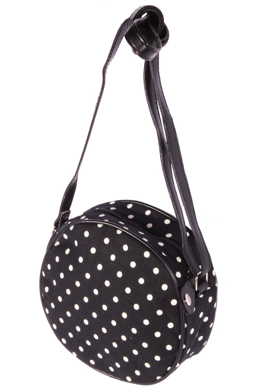 Polka Dots rockabilly Punkte Mini Purse Handtasche Round Bag Abendtasche