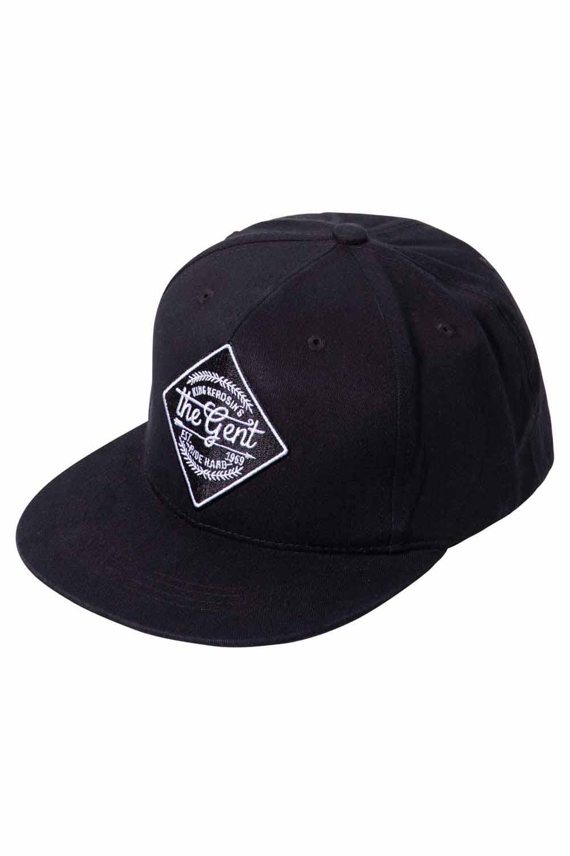 King Kerosin Baseballcap The Gent Baseball Trucker Snapback Cap schwarz