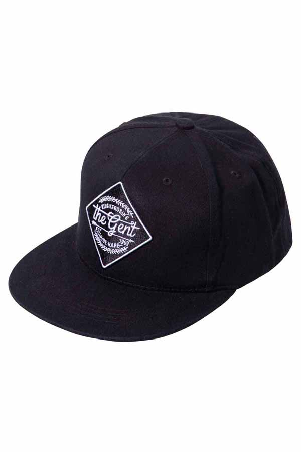 King Kerosin Baseballcap The Gent Baseball Trucker Snapback Cap schwarz