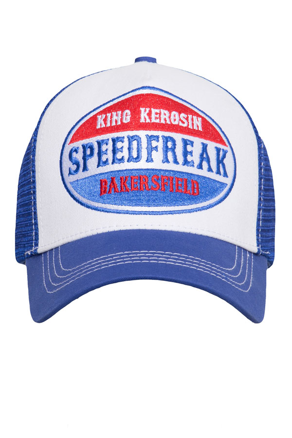 King Kerosin Baseballcap Speedfreak Baseball Trucker Snapback Cap blau