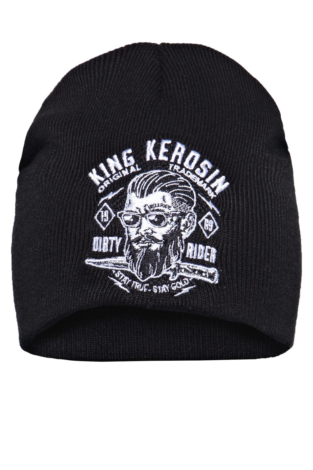 King Kerosin Mütze Strickmütze Stickerei Dirty Rider Rockabilly Biker Beanie