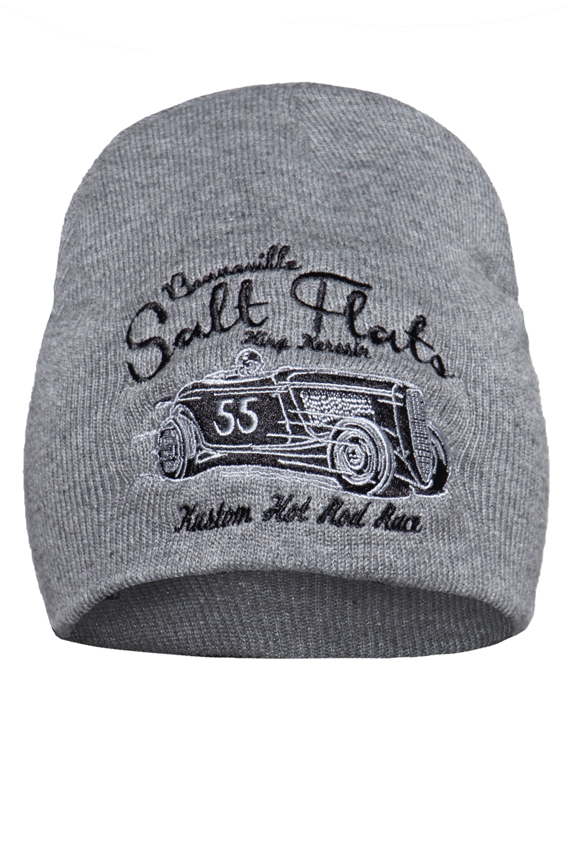 King Kerosin Mütze Strickmütze Stickerei Salt Flats Rockabilly Biker Beanie