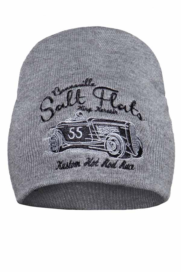 King Kerosin Mütze Strickmütze Stickerei Salt Flats Rockabilly Biker Beanie