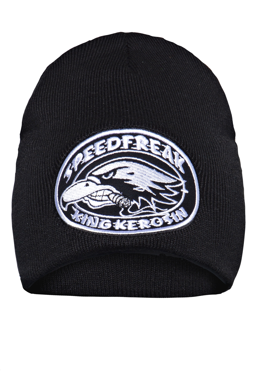 King Kerosin Mütze Strickmütze Stickerei Speedfreak Rockabilly Biker Beanie