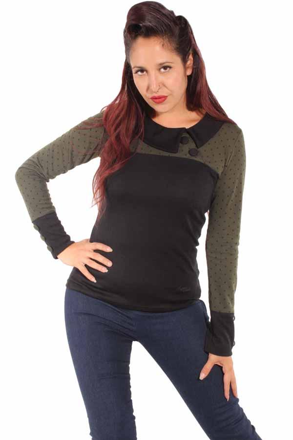 60s Polka Dots Rockabilly Corsagen Punkte Shirt Longsleeve Sweatshirt