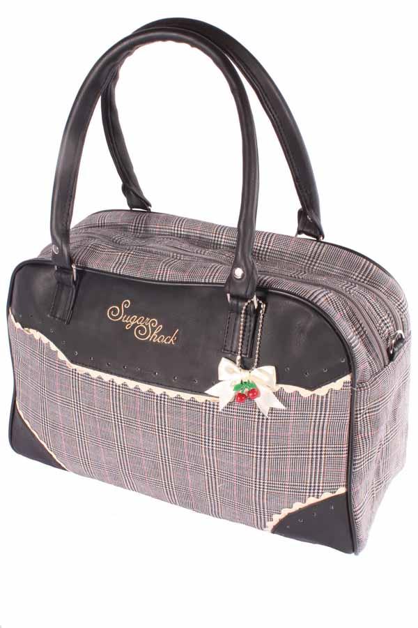 Pepita Weekender Karo rockabilly Glencheck Bowling Handtasche Tasche
