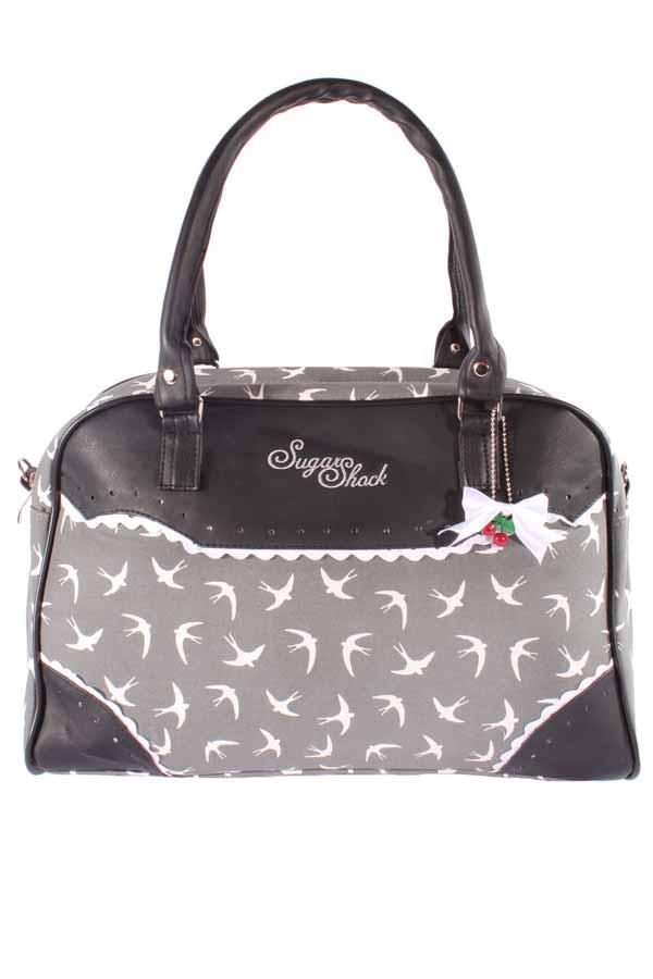 Schwalben Weekender rockabilly Swallow Bowling Handtasche Tasche