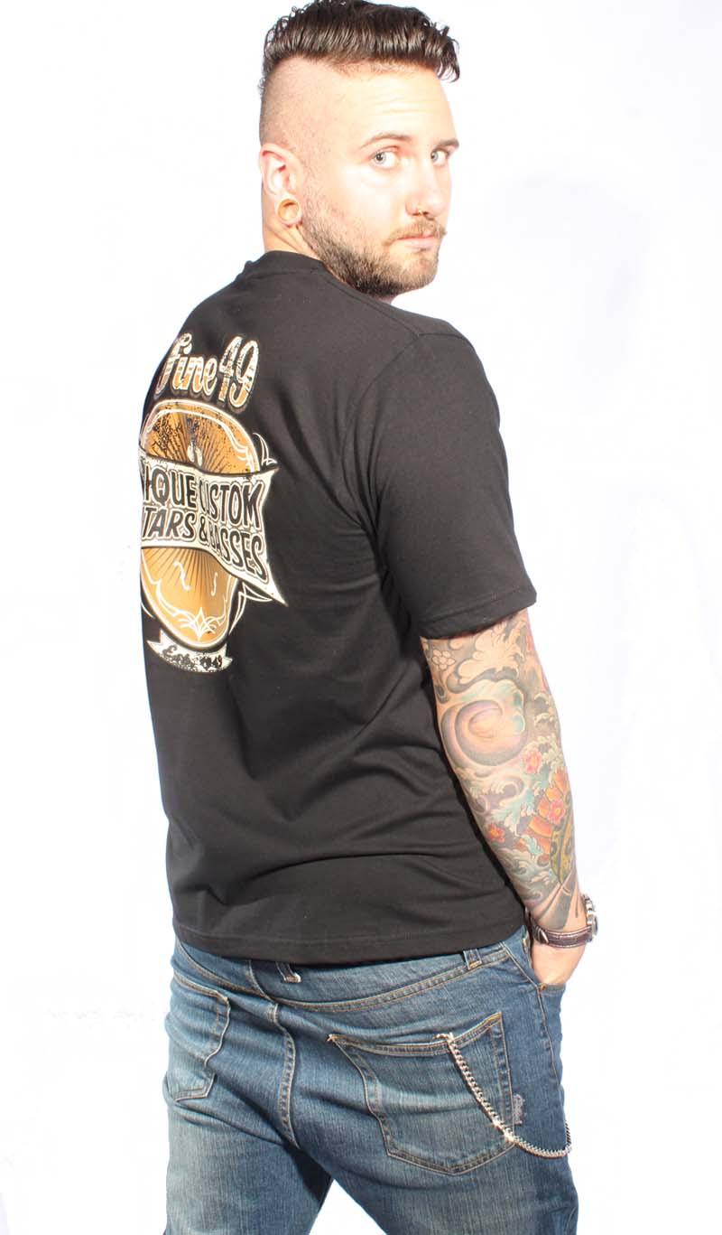 Guitar Pick oldschool Gitarren Plektrum rockabilly punk rock T-Shirt Fine49