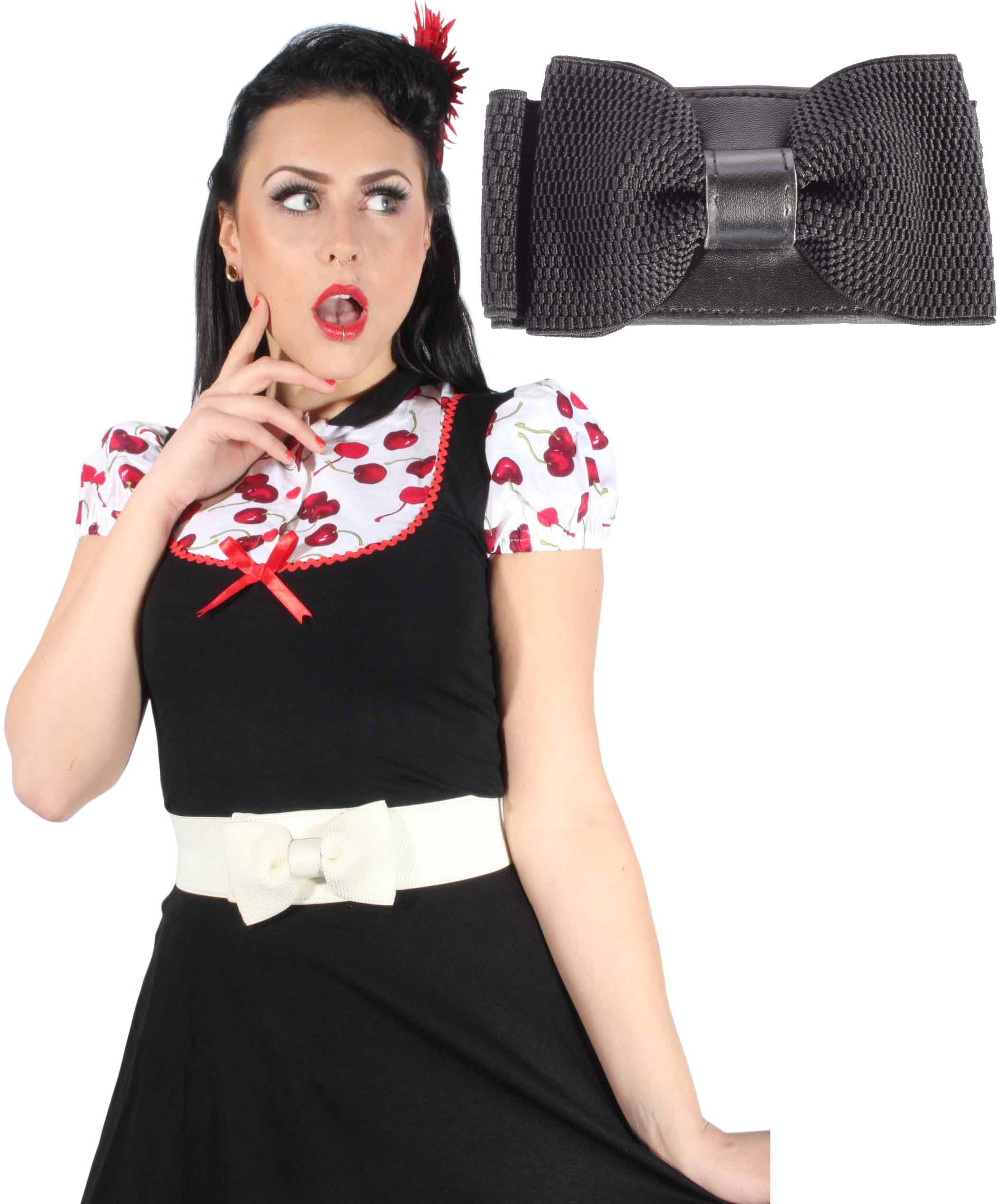 50er Schleifen rockabilly pin up Petticoat Bow Stretchgürtel Stretch GüRTEL