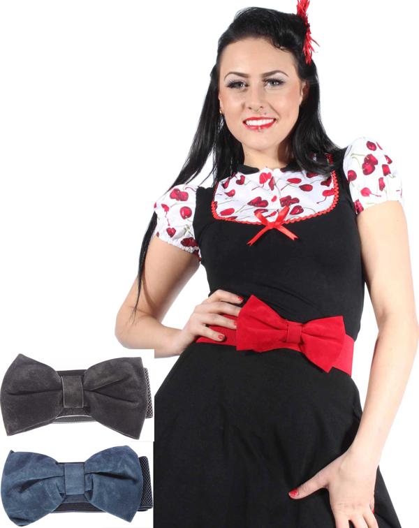 50er Schleifchen rockabilly pin up Petticoat Stretchgürtel Stretch GüRTEL