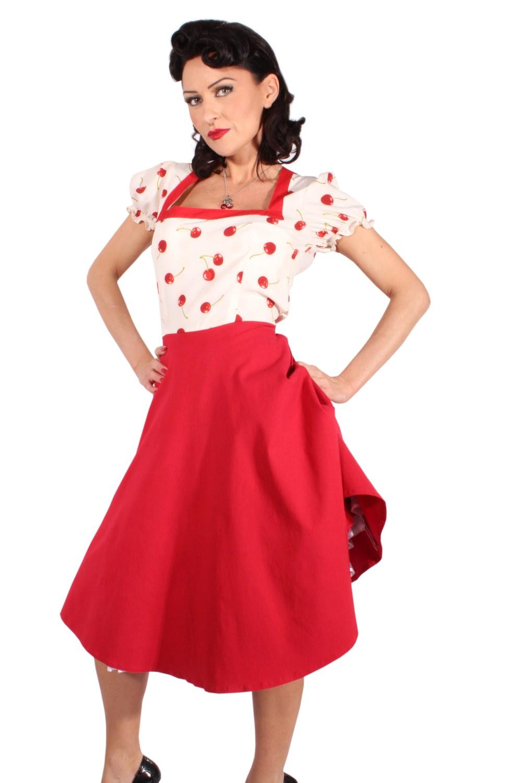 2tone Kirschen rockabilly SWING Cherry Petticoat Kleid Petticoatkleid