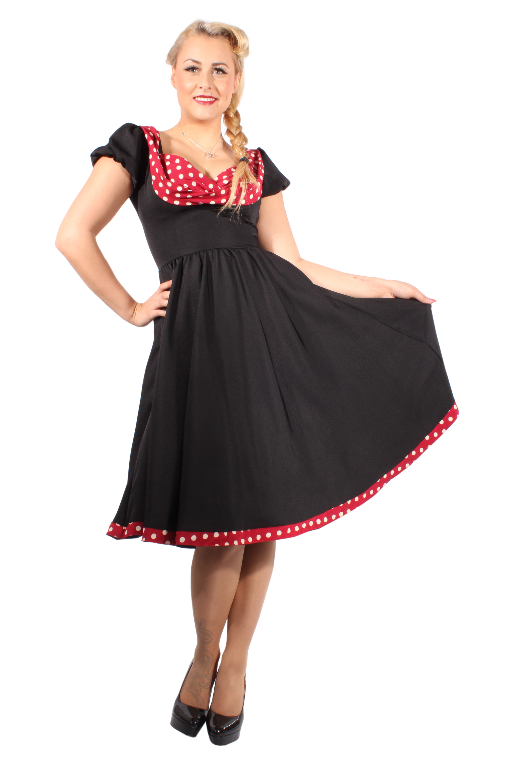 Pin Up polka DOTS rockabilly SWING Petticoat Kleid Petticoatkleid sw