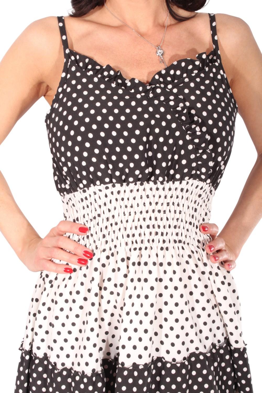 50s rockabilly polka dots sommer kleid punkte strandkleid. Black Bedroom Furniture Sets. Home Design Ideas