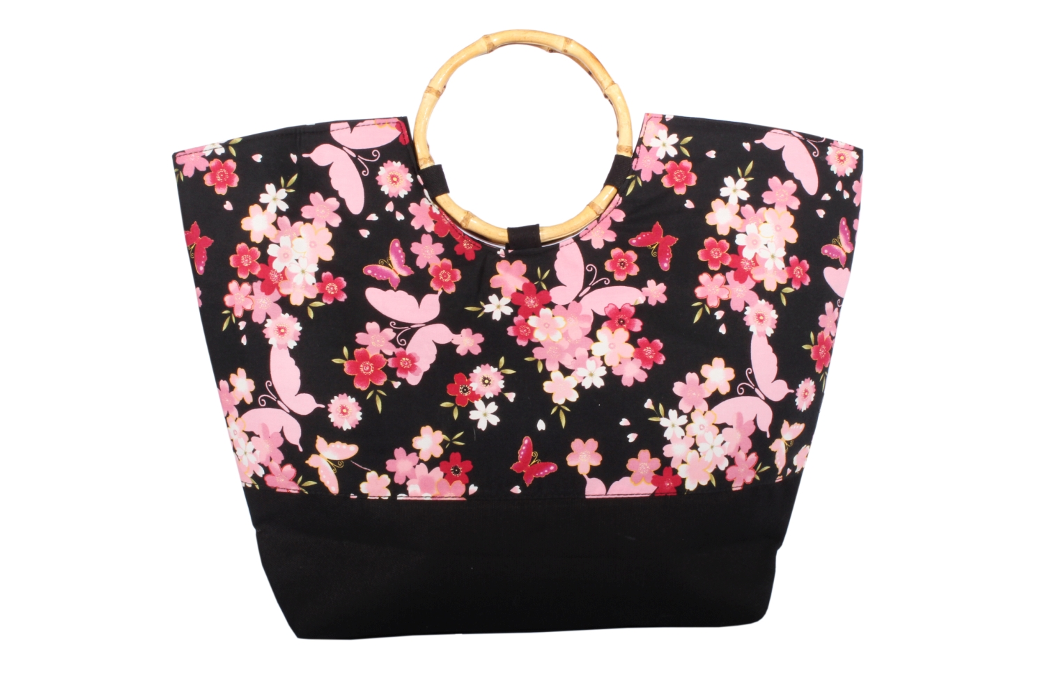 pin up Butterfly Asia Flower vintage Bambus Schmetterling Shopper Tasche