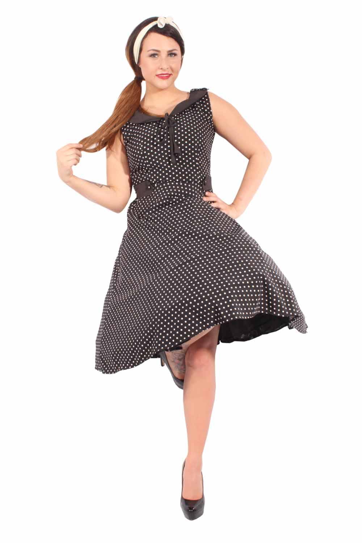 50er swing retro rockabilly polka dots zierklappen vintage kleid. Black Bedroom Furniture Sets. Home Design Ideas