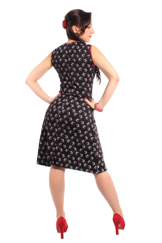 martiniglas rockabilly pin up a form kleid strandkleid shirtkleid ebay. Black Bedroom Furniture Sets. Home Design Ideas