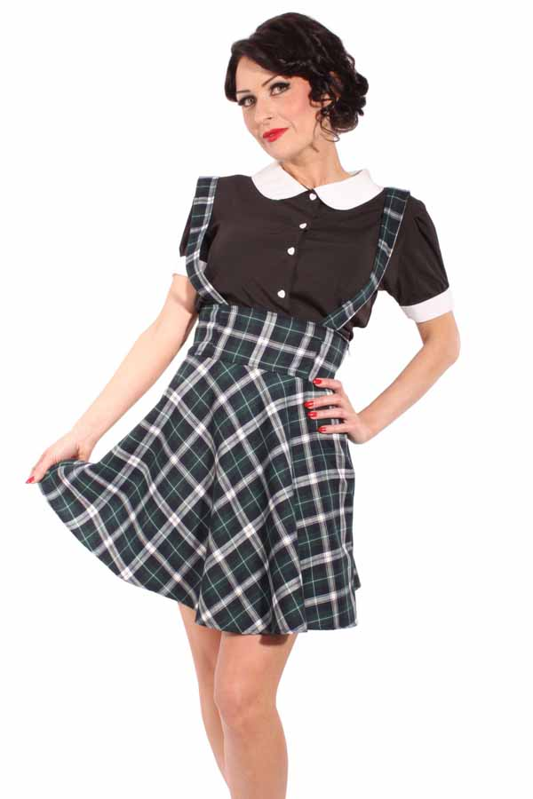 PLAID rockabilly Hosenträger Schottenkaro Tartan SWING ROCK