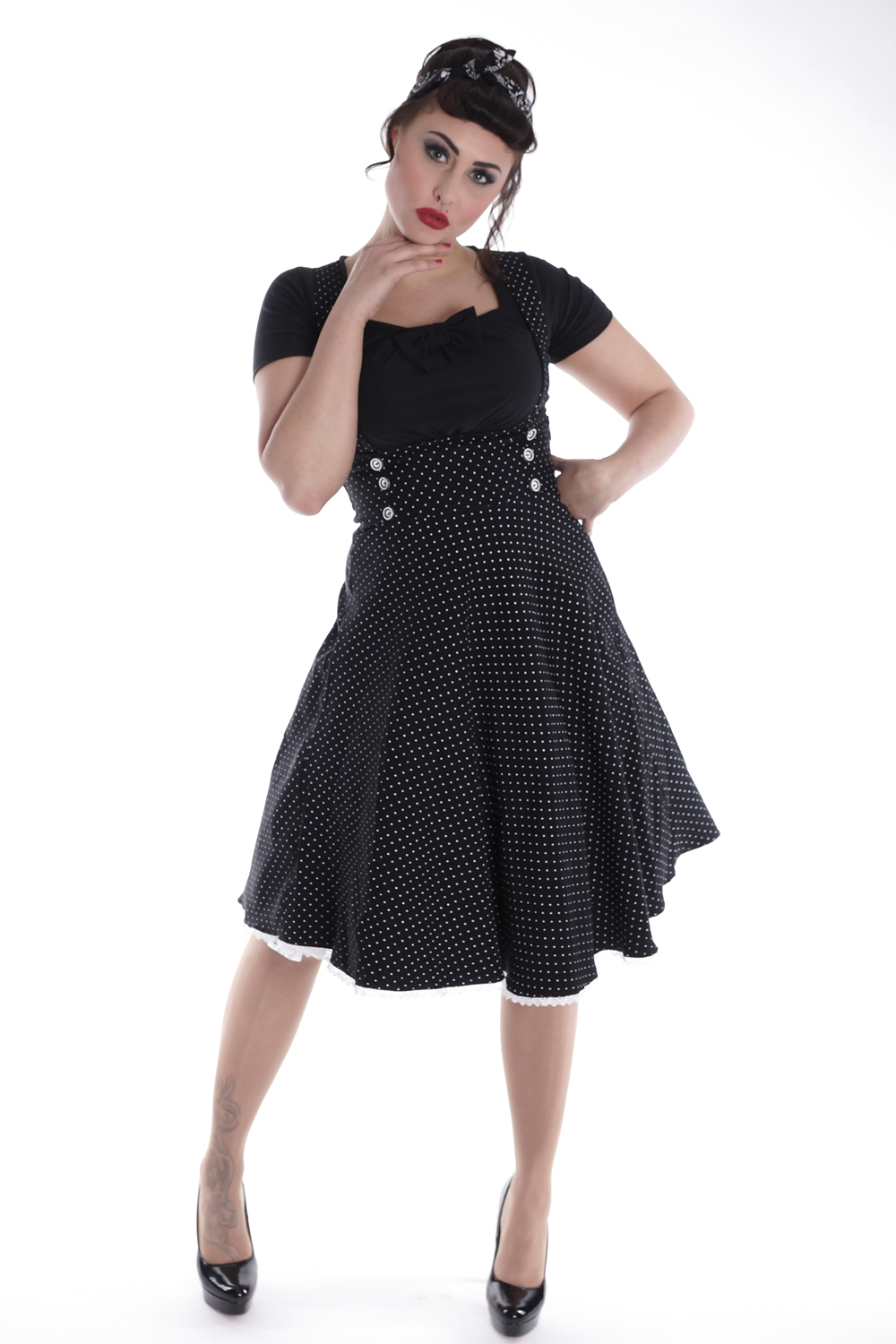 retro rockabilly Hosenträger POLKA DOTS SWING Petticoat Rock