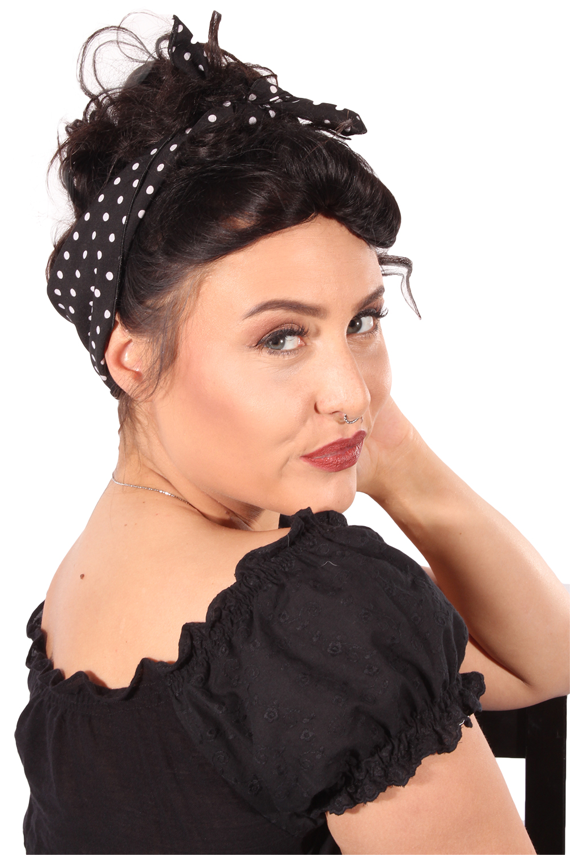 Polka Dots Rockabilly Haarreif Pin Up Punkte Frisuren Haarband