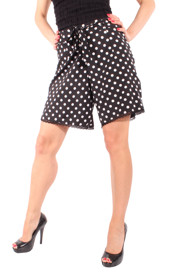 Retro rockabilly Hot Pants POLKA DOTS Shorts Hose gepunktet