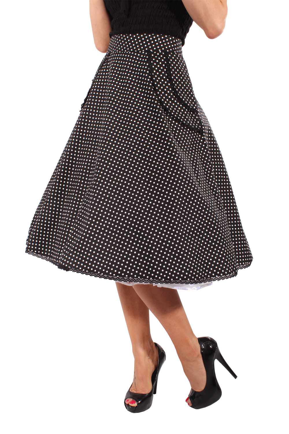 RETRO rockabilly SWING Schößchen Polka Dots Rock