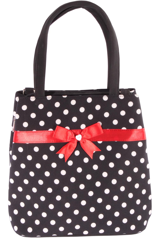 50er Jahre Polka Dots rockabilly Schleifchen Punkte Handtasche