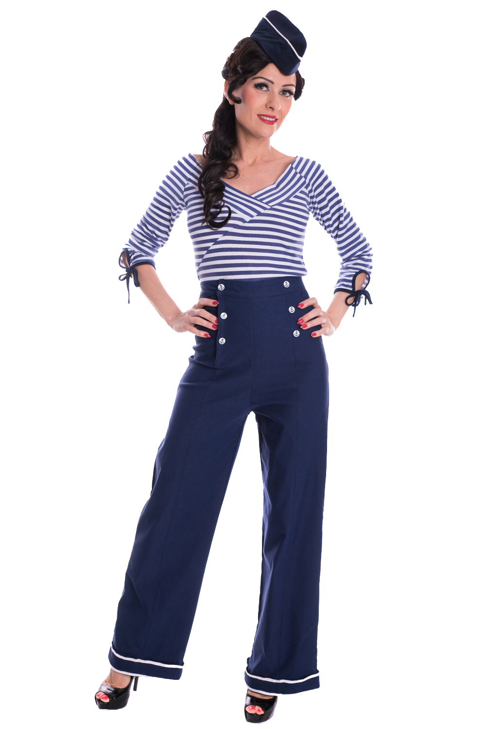 Sailor MARLENE Hose Retro Matrosen rockabilly Marlenehose