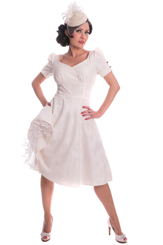16s rockabilly SWING Petticoat Kleid Brautkleid Hochzeitskleid