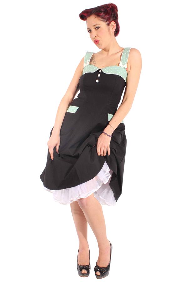 50er retro Petticoatkleid Pin Up POLKA DOTS Sommer Swing Kleid