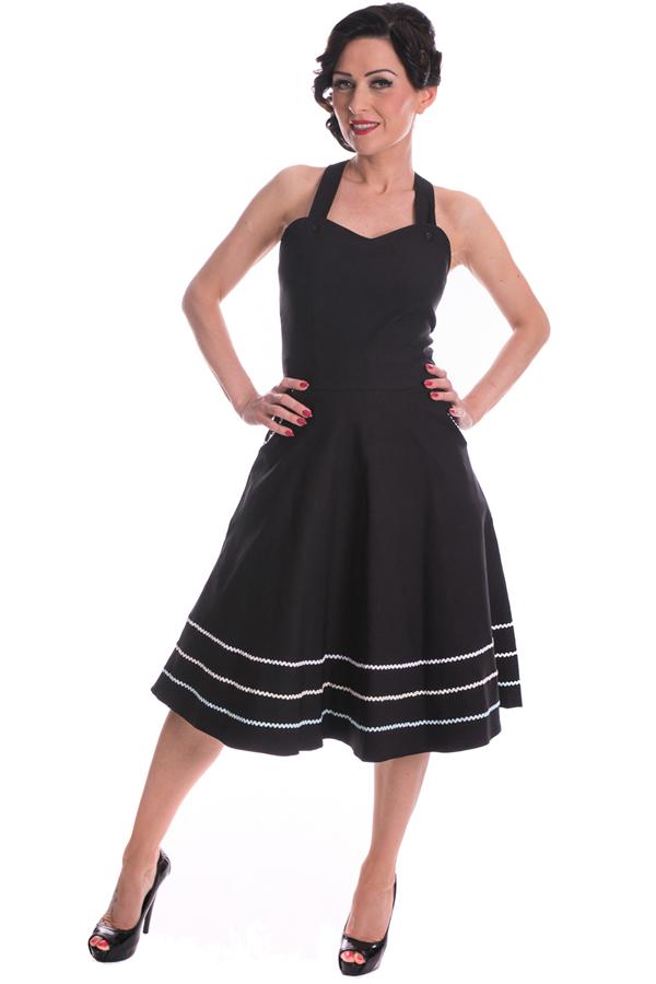 Latzkleid rockabilly retro Hosenträger Swing Träger Kleid