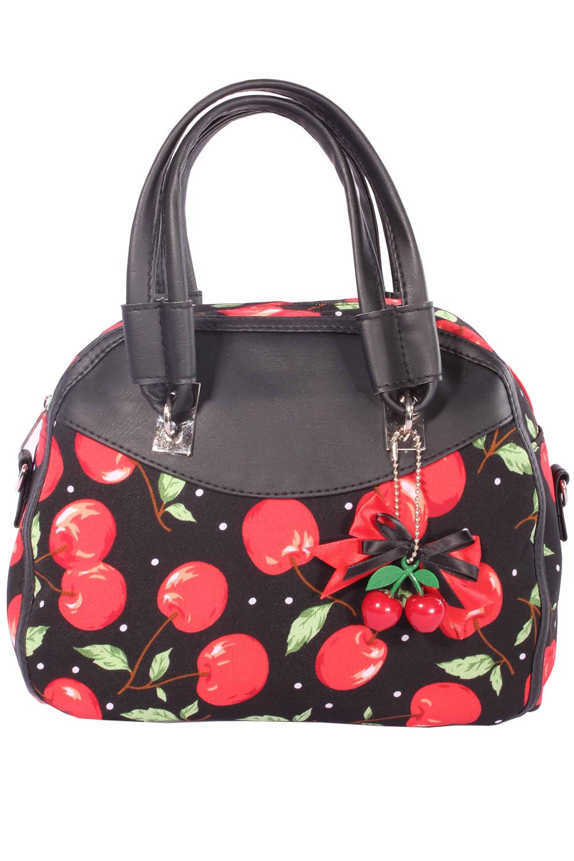 Rockabilly Cherry Bow Kirschen 50er Jahre Handtasche Tasche