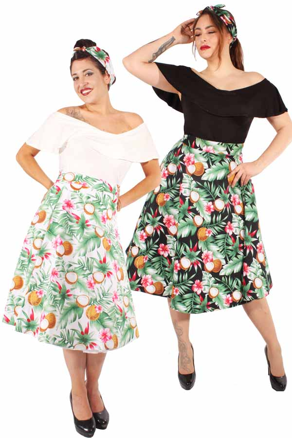 rockabilly Hawaii Hibiskus Blüten retro Hawaiiblüten Swing Rock