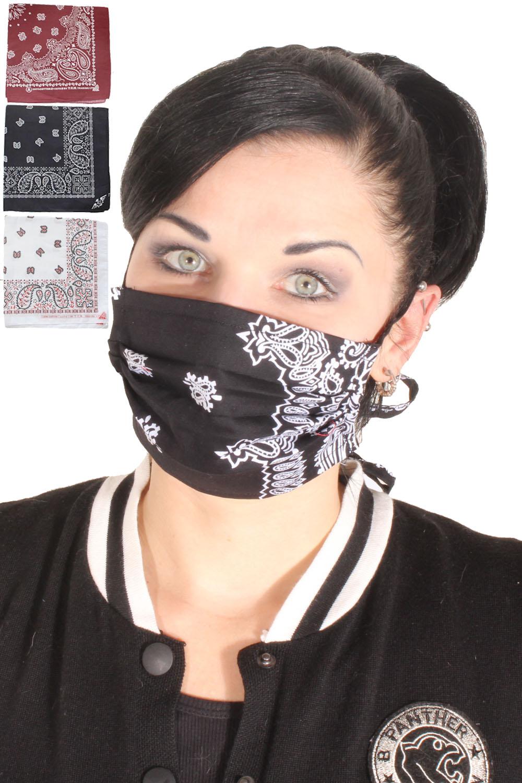 3x Paisley rockabilly Bandana Gesichtsmaske Stoffmaske selbst machen C)