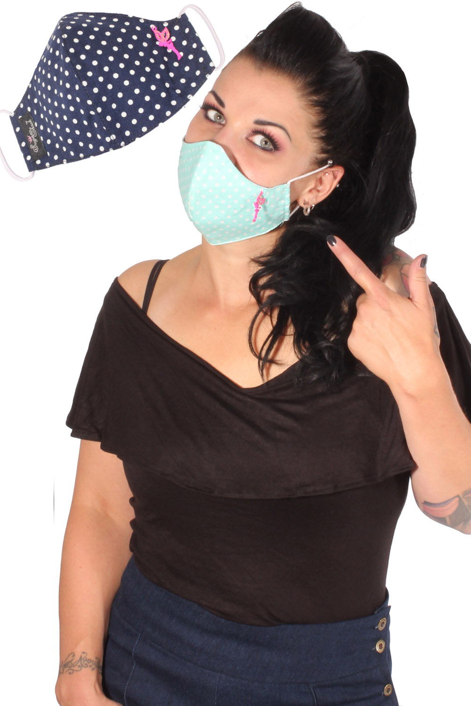Elfe Polka Dots Glitter Gesichtsmaske Stoffmaske Behelfsmaske Mundmaske 3lagig