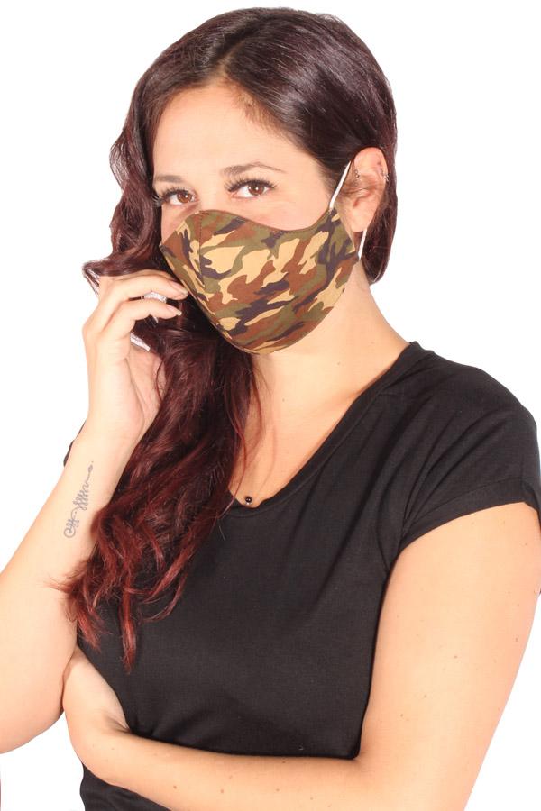 Camouflage Gesichtsmaske Army Stoffmaske Behelfsmaske 3lagig
