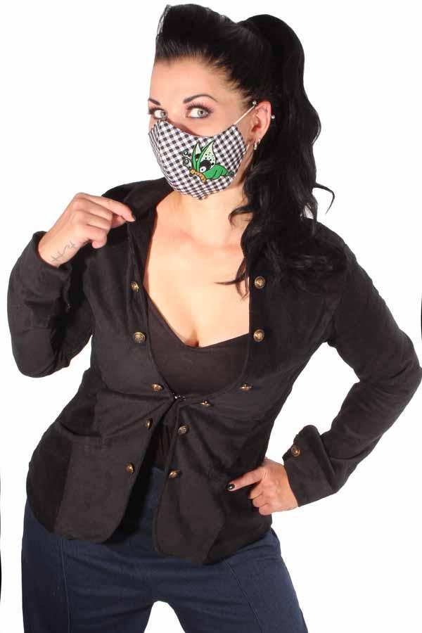 Karo Schmetterling Gesichtsmaske Stoffmaske Behelfsmaske Mundmaske 3lagig